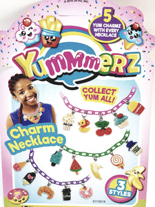 Yummmerz Plum Purple Charm Necklace & 5 Yum Charms Set with EZ Sizing
