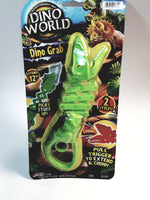 "Dino World Dino Grab IT Jaws Green Velociraptor Head Blaster/Gun Extends 12"" Funny Gag Novelty Toy"