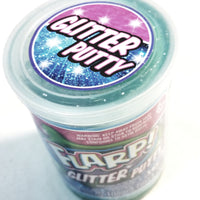 FLARP Powder Blue Glitter Large Noise Putty Make 6 Awful Fart Sounds Gag 105g In 3.7oz Container Of Goop