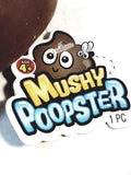 "Poo-Doo Mushy Poopster Brown Soft Stretchy Poop 6"" Poo"
