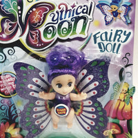 Mythical Moon Plum Purple Fairy Doll With Hair & Flapping Wings