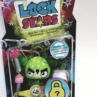 Lock Stars Series 1 Lime Green & Yellow Freckles Lock Two Keys & 2 Mystery Charms