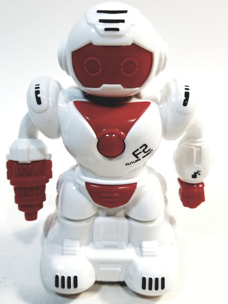 "Future Robot F2 Toddlers First Mini 3"" Friction Red ROBOT"