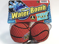 Water Bomb Toss Em Splash Basketball Set of 2 Soft Sponge Ball Shaped Pool/Beach Toy