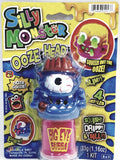Silly Monster Ooze Head Big Eye Bubba Squeeze Figure with Green Slime Putty Slime with 1 Container .53oz of Goop