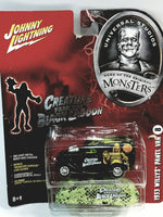 Johnny Lightning Universal Studios Monsters #8 Creature From Black Lagoon 1933 Willys Panel Van  1/64 Scale Diecast Car