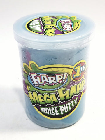 Mega FLARP Cotton Candy Blue Large 1LB Noise Putty Make 6 Awful Fart Sounds Gag Largest Container Of Goop