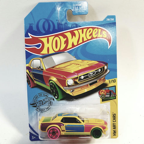 Hot Wheels HW Art Cars 1967 Ford Mustang Coupe 1/64 Scale 7/10 Diecast Car