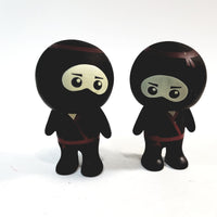 Basic Toy Mini Buddies Red Belt Ninja Warrior Set of 2 Figures with Articulated Rotating Head