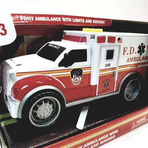 Daron FDNY Fire Dept Ambulance with Lights & Sounds 1/32 Scale New York City Toy Truck