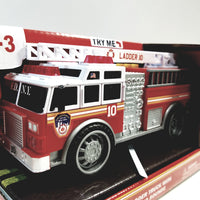 "Daron FDNY Fire Dept Fire Engine Lights & Sounds 7"" Scale New York City Toy LadderTruck"