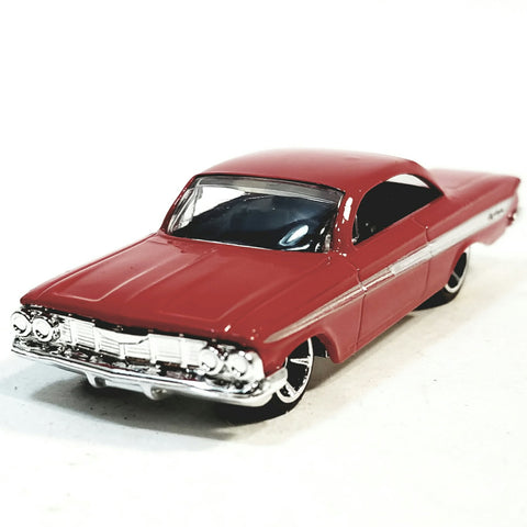 Hot Wheels Fast (Fate) & The Furious Dom's Red 1961 Chevy Impala Sport Coupe 1/64 Scale Diecast Car
