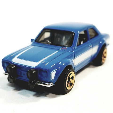 Hot Wheels Fast & The Furious 6 Brian's Blue 1970 Ford Escort RS1600 1/64 Scale Diecast Car