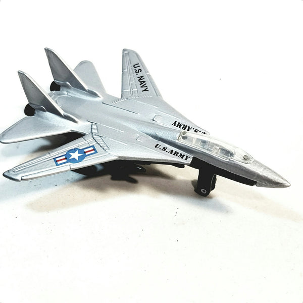 "SF Toys Silver YF-22 Lockheed Fighter Jet Plane Military Airplane 4.75"" Scale Diecast Model"