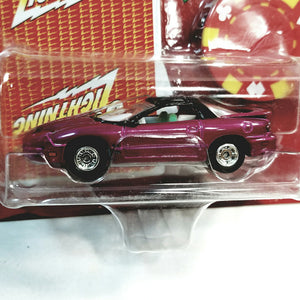 Johnny Lightning #11 Poker 2002 Pontiac Firebird WS6 With Card & Poker Chip 1/64 Scale Diecast Car