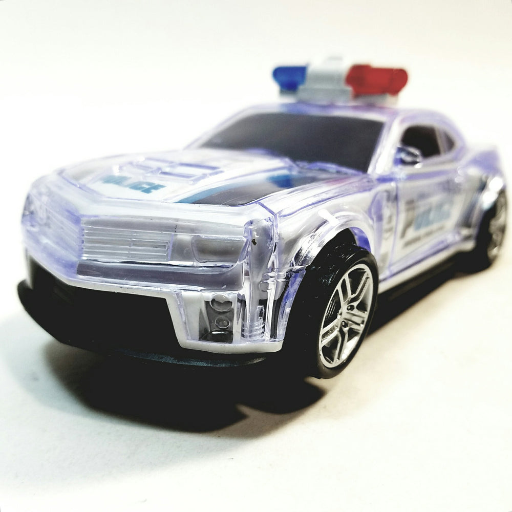 ZI X Toys Futuristic Police Squad Car Battery Operated Bump & Go 6.5