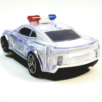 "ZI X Toys Futuristic Police Squad Car Battery Operated Bump & Go 6.5"" Length with Lights & Sounds"