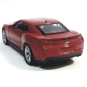 "Welly Chevy Camaro ZL1 Candy Apple Red Hard Top 4.5"" Scale Diecast Car"