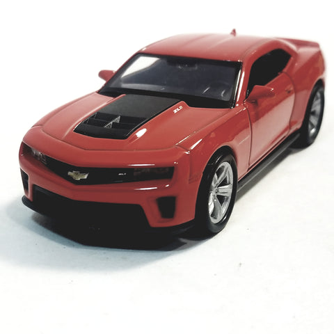 "Welly. Chevy Camaro ZL1 Fire Engine Red Hard Top 4.5"" Scale Diecast Car"