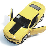 "Welly Chevy Camaro ZL1 Canary Yellow Hard Top 4.5"" Scale Diecast Car"