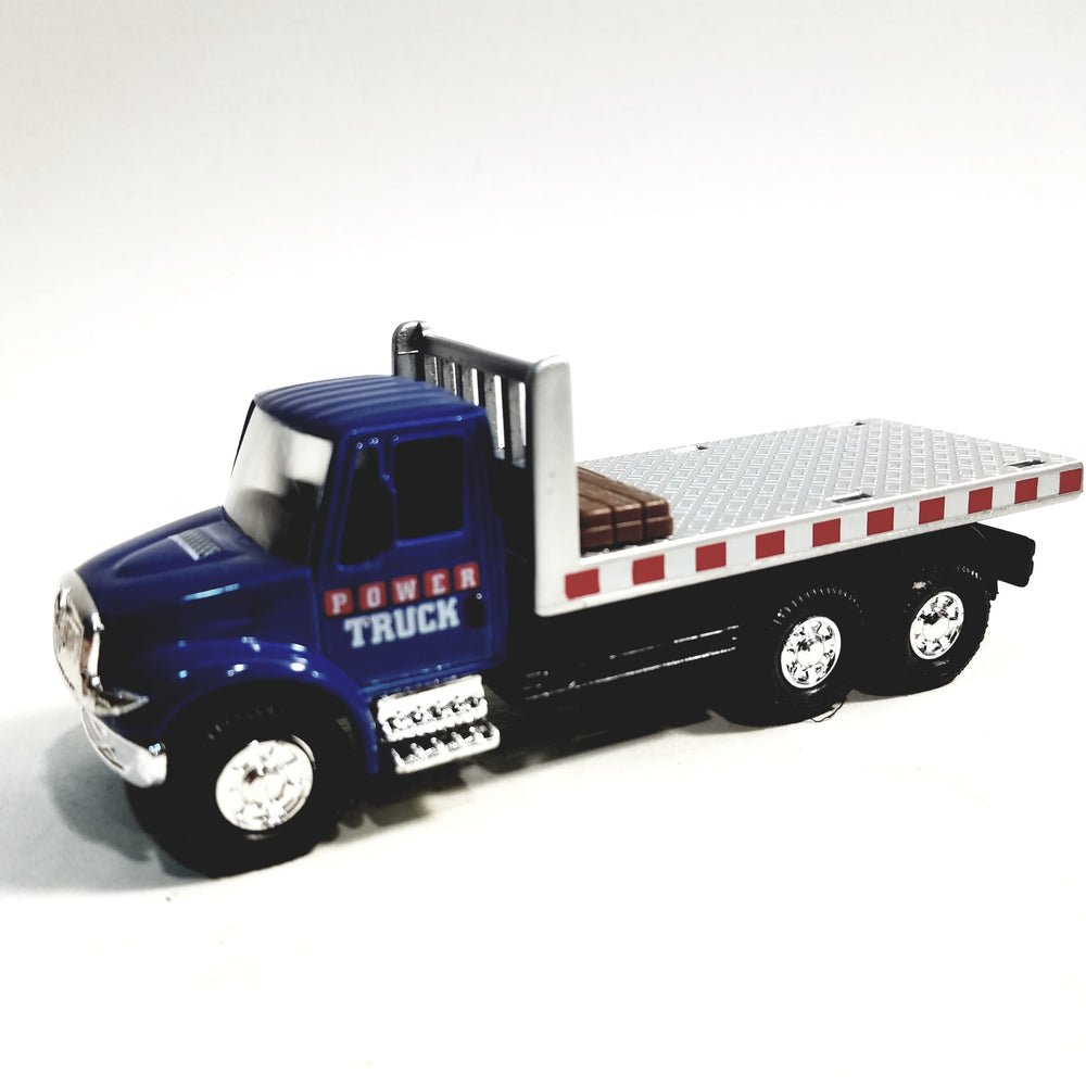Showcasts International Blue Flatebed Wrecker 1/48 Scale Diecast Tow Truck