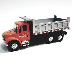 "Showcasts International Orange Dump Truck 5"" Diecast Commercial Vehicle"