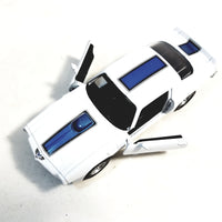 Welly 1972 White & Blue Stripe Pontiac Firebird Trans Am Hard Top 1/34 Scale Diecast Car