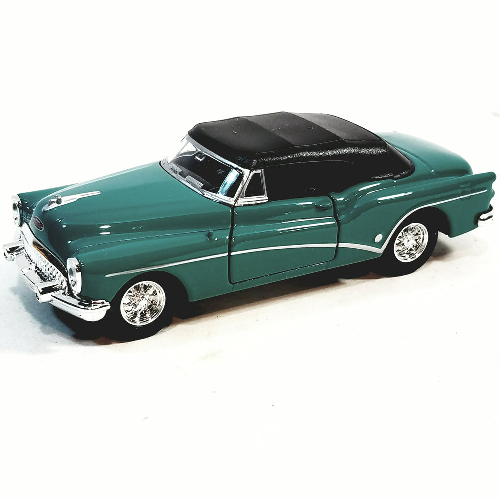 Welly 1953 Forest Green Buick Skylark Top Up Convertible 1/34 Scale Diecast Car