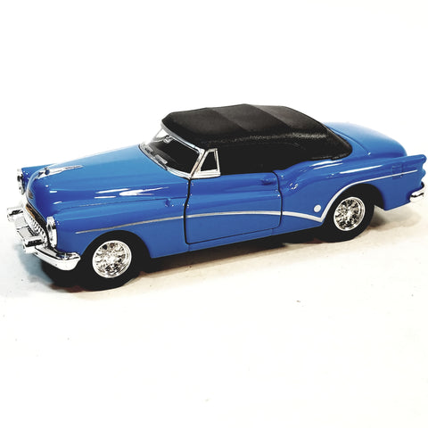 Welly 1953 Sky Blue Buick Skylark Top Up Convertible 1/34 Scale Diecast Car