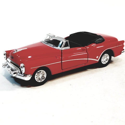 Welly 1953 Fire Engine Red Buick Skylark Top Down Convertible 1/34 Scale Diecast Car