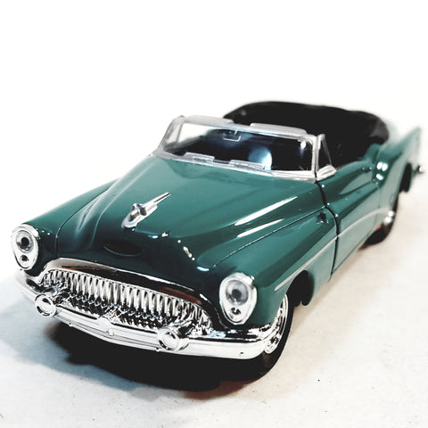 Welly 1953 Forest Green Buick Skylark Top Down Convertible 1/34 Scale Diecast Car