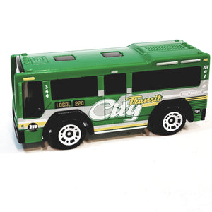 Matchbox Limited MBX GreenLocal 220 City Transit Bus #344 1/64 S Scale Diecast Bus