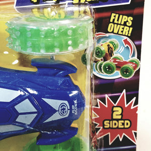 Speed Shots Navy Blue & Green Wheels #4 Friction Power 2 Sided Flip Racer