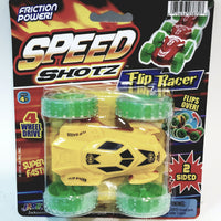 Speed Shots Fire Yellow & Green Wheels #4 Friction Power 2 Sided Flip Racer