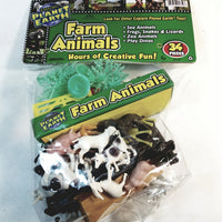 Explore Planet Earth 34 Piece Farm Animal Plastic Playset with Fence