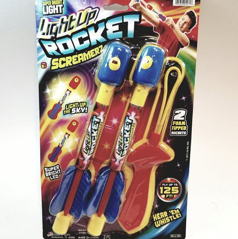 Light Up Rocket Screamerz 2 Heavy Duty Foam Rockets with Lights and Sounds Up to 125ft