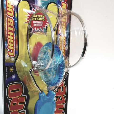 Gyro Wheel Light-Up Spinning Action Blue Retro Toy