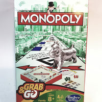 Hasbro Gaming Monopoly GRAB & Go Travel Game Version 2-4 Players