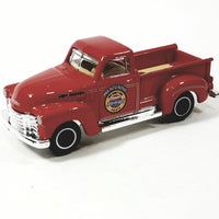 Roll over image to zoom in Matchbox 1947 Red Chevy AD MBX Auto Repair Pickup 1/64 Scale Diecast Truck