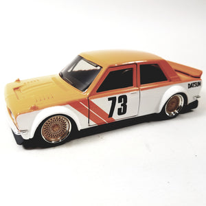 Jada Metals JDM Tunerz Orange & White 1973 Datsun 510 Widebody #73 1/32 Scale Diecast