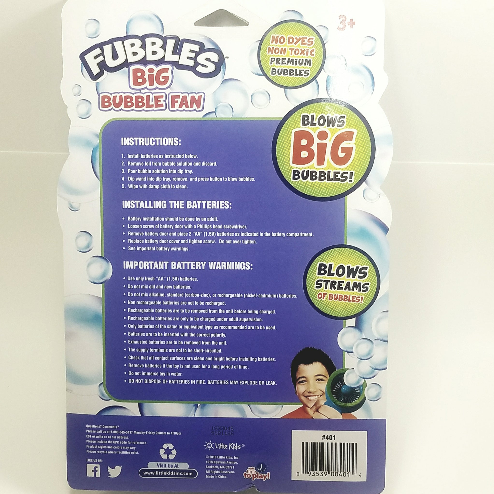 Fubbles® Big Bubble Fan