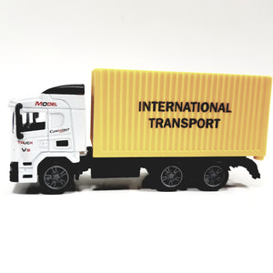 TY Charcoal Gray & Yellow Delivery Box Truck 1/64 Diecast Vehicle