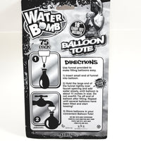 "Water Bomb 18"" BALLOON TOTE Water Balloon Carrying Balloon Accessory With 75 ..."