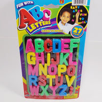 Fun With ABC's 27 Piece  Magnetic Colorful Letters Kids Educational Toy