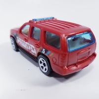 Hot Wheels Police Pursuit HWPD Red 2007Chevy Tahoe 1/64 Scale Diecast Car