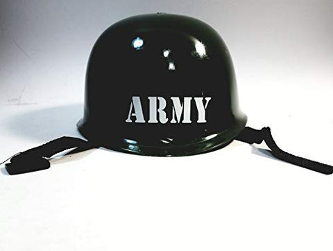 Heroes Army Green Plastic Military Soldier Helmet / Hat Pretend Gear