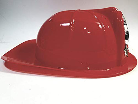 Heroes Red Plastic Firemans Helmet Durable Costume Firefighter Gear