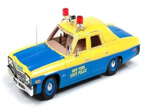Auto World R2 1974 Blue Dodge Monaco NY State Police Squad Car 1/43 Scale Res...