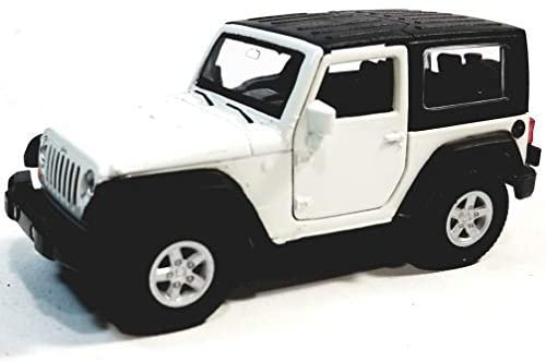 Welly White Jeep Wrangler Rubicon Hardtop 1/38 O Scale Diecast Car