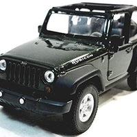 Welly Forest Green Jeep Wrangler Rubicon Opentop 1/38 O Scale Diecast Car